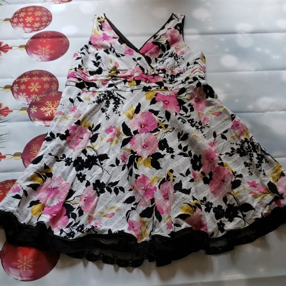 Flower Plus size dress, Vintage look!